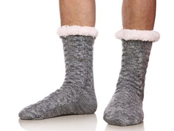 fleece lined slipper socks