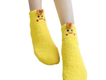 fuzzy chicken socks