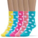 silky toes womens 5 pairs warm fuzzy socks