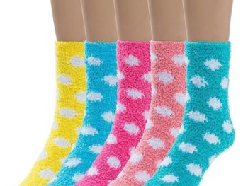 silky toes womens 5 pairs warm fuzzy socks